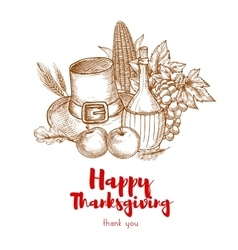 Happy Thanksgiving Holiday greeting card vector image