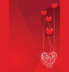 love is a balloon vector image