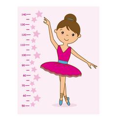 meter wall girl dancer vector image vector image