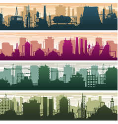 modern building of gas and oil station power vector image vector image