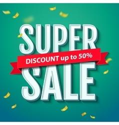 Super Sale inscription on the blue background vector image vector image