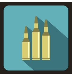 Bullet ammunition icon flat style vector
