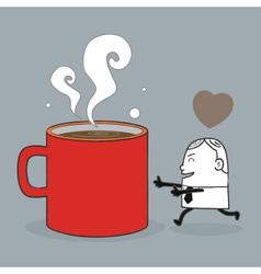 Busines Man Love Coffee vector image vector image