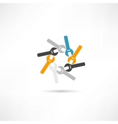 Circle wrench icon vector image