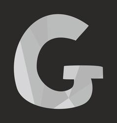 G alphabet letter isolated on black background vector