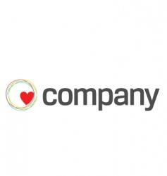 heart care charity logo vector image