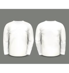 Mens white sweatshirt long sleeve vector image