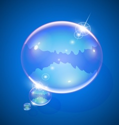 soap bubble for message vector image vector image