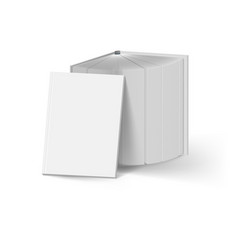stack of gray books on white mockup template vector image vector image
