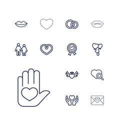 13 love icons vector