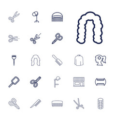 22 hairdresser icons vector