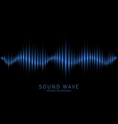 abstract sound wave electromagnetic oscillation vector image
