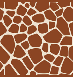 animal pattern giraffe seamless background vector image