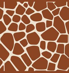Animal pattern giraffe seamless background vector