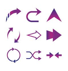 arrows direction guide cursor web navigation icons vector image