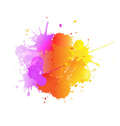 banner with colorful blobs and paint vector image