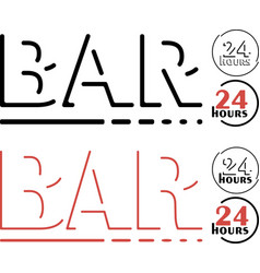 Bar logo set vector