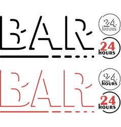 Bar logo set vector