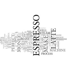 be your own barista easier than you think text vector image