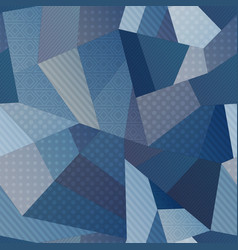 Blue color fabric seamless pattern vector