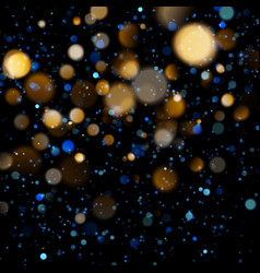 blurred bokeh light on dark blue background vector image