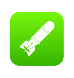 bomb icon digital green vector image