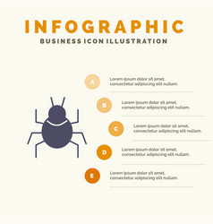 Bug nature virus indian solid icon infographics 5 vector