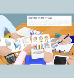 Business meeting and text vector