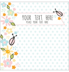 card with blue dots vector image