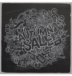 Cartoon cute doodles hand drawn Autumn sale vector image