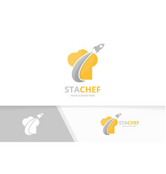 chef hat and rocket logo combination vector image