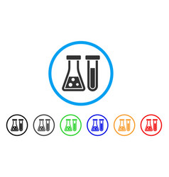 chemistry rounded icon vector image