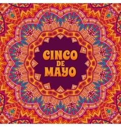 Cinco de mayo banner ornamental vector image