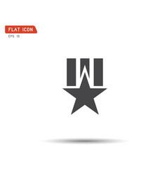 clasic star icon logo flat eps vector image