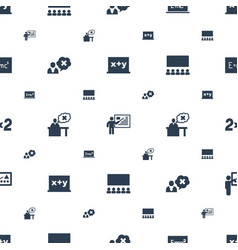 class icons pattern seamless white background vector image