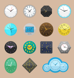 Clock watch different clockwork and vector