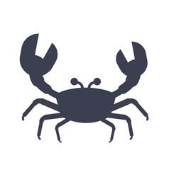 crabs black icon vector image