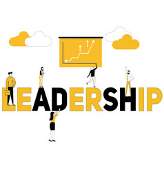 creative word concept leadership and multiple vector image