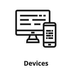 devices thin line icon vector image