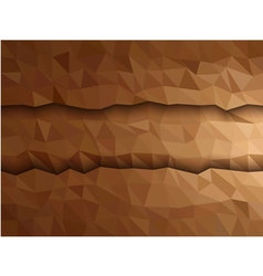 Dimension brown triangle banner vector