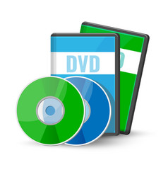 Dvd digital video discs cases for storage vector