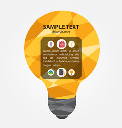 Electric incandescent lamp project template vector