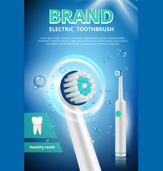 electric toothbrush advertizing dental poster vector image