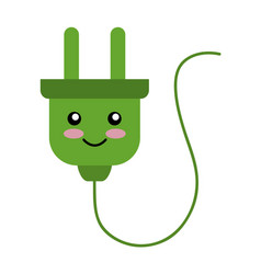 Energy plug character connection icon vector