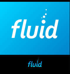 fluid logo water spa or swimming club emblem vector image