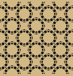 gold and black geometric seamless pattern vector image