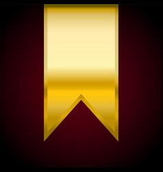 golden ribbon flag banner vector image