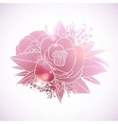 Graphic floral vignette vector