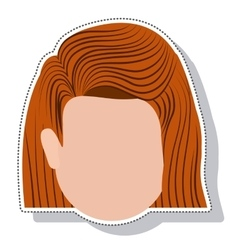 head face woman isolated icon vector image