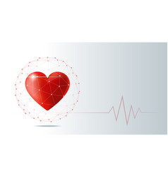 Healthcare concept with red heart vector
